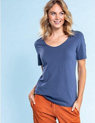 Deerberg Jersey-T-Shirt Dana indigo
