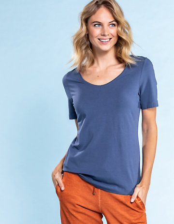 Deerberg Jersey-Shirt Dana indigo