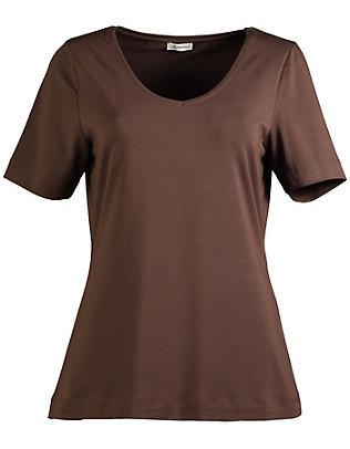 Deerberg Jersey-T-Shirt Dana schokolade