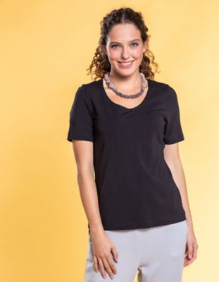 Deerberg Jersey-Shirt Dana schwarz