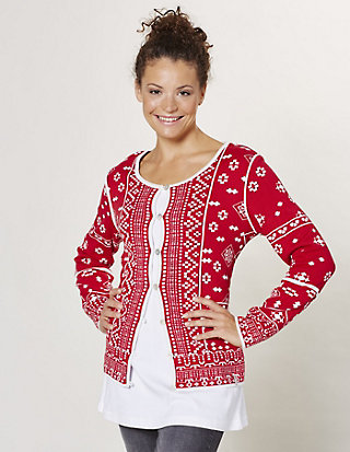 Deerberg Jacquard-Strickjacke Betti