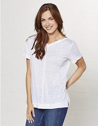 Deerberg Leinen-Shirt Abela weiß