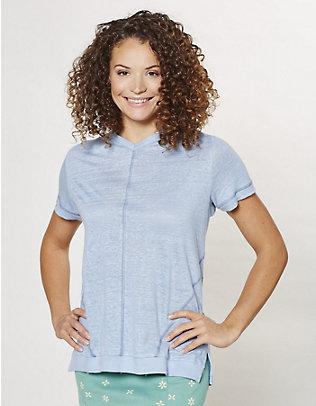 Deerberg Leinen-Shirt Abela nebelblau
