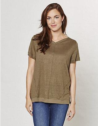 Deerberg Leinen-Shirt Abela reetgrün