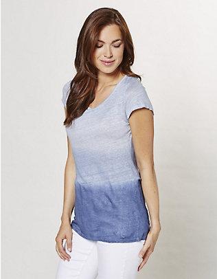 Deerberg Leinen-Jersey-Shirt Ineke indigo