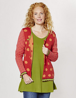 Flomax Jacquard-Strickjacke Bette