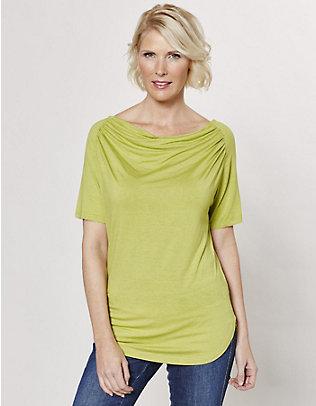 Deerberg Jersey-Shirt Yelva gelbgrün