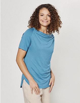 Deerberg Jersey-Shirt Yelva pazifikblau