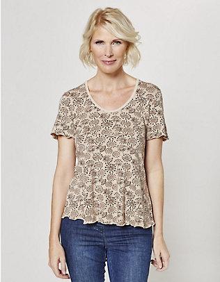 Deerberg Jersey-Shirt Sirin sahara-groß-geblümt