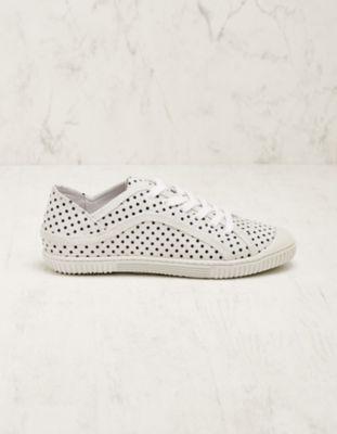 Deerberg Veloursleder-Sneaker Aylin weiß-marine
