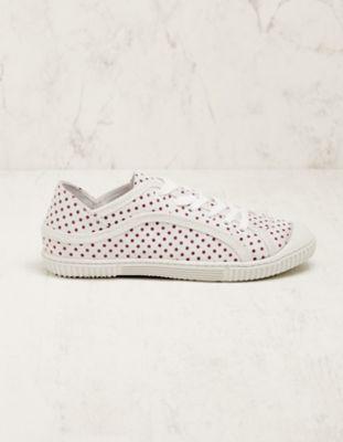 Deerberg Veloursleder-Sneaker Aylin weiß-lila
