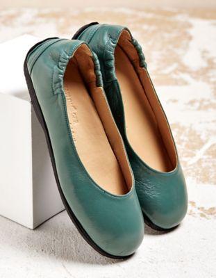 Haflinger Ballerinas Minja, dunkelgrün