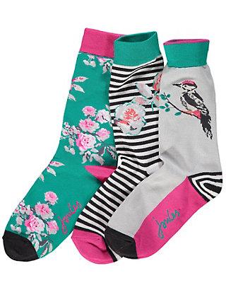 Joules 3er Pack Socken Sofia