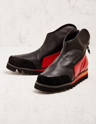 Clamp Stiefeletten Ketrin schwarz-rot