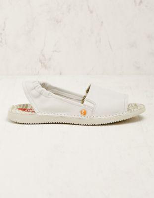 Softinos Leder-Sandalen Faline weiß
