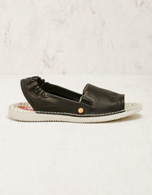 Softinos Leder-Sandalen Faline schwarz