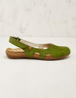 El Naturalista Leder-Sandalen Siska grün