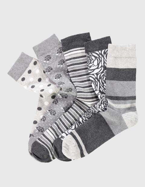 Image of Deerberg 5er Pack Socken Billa, Grau