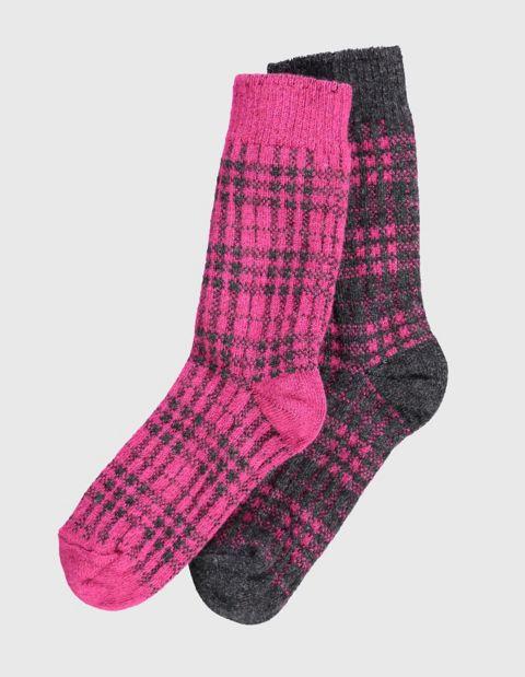2er Pack Socken Letti, Rot