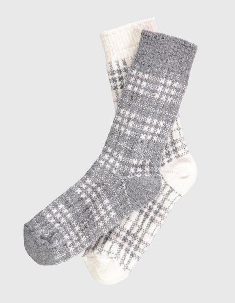 2er Pack Socken Letti, Grau