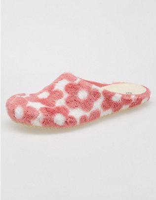 Deerberg Hausschuhe Joelina pink-weiß
