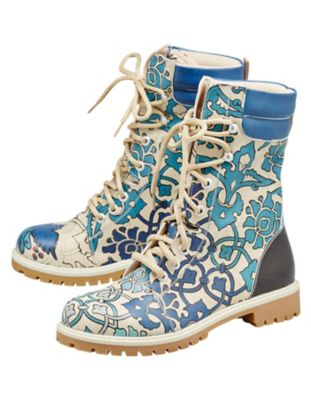 Dogo-Shoes Stiefeletten Blue Tiles, bunt