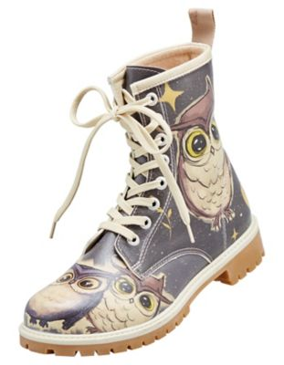 Dogo-Shoes Stiefeletten Owls Family, bunt