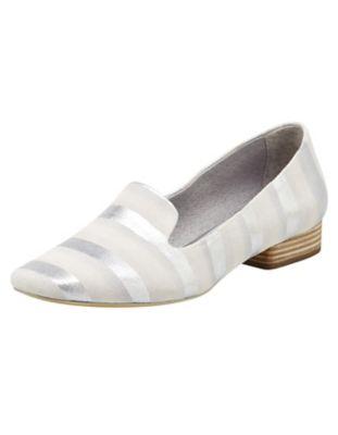 Be Natural Ballerinas Leisha weiß-silber