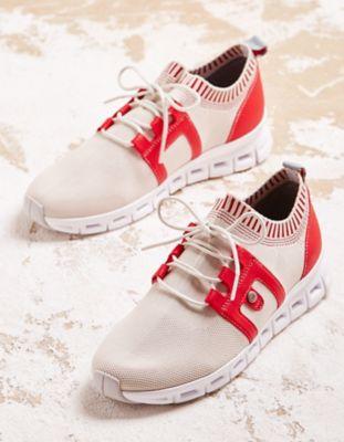 Wolky Sneaker Tera beige-rot