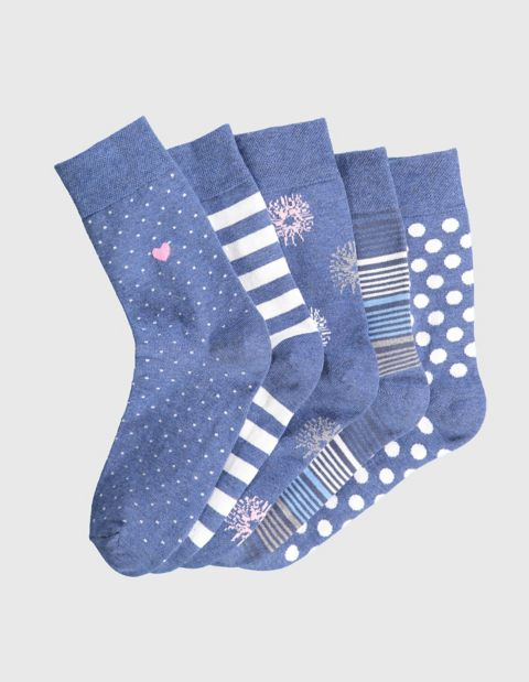 Image of Sympatico 5er Pack Socken Filine, Blau