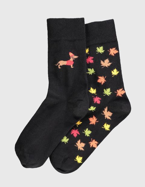 2er Pack Socken Imke, Schwarz