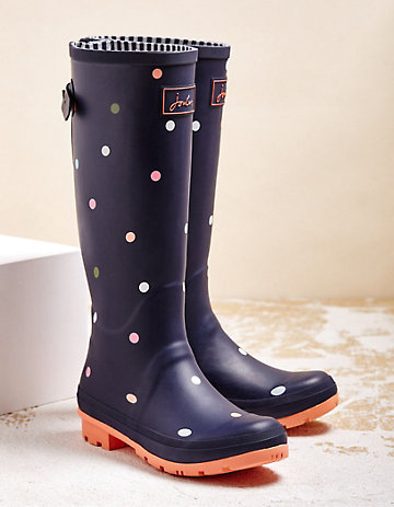 Joules Stiefel Wellyprint marine-pink
