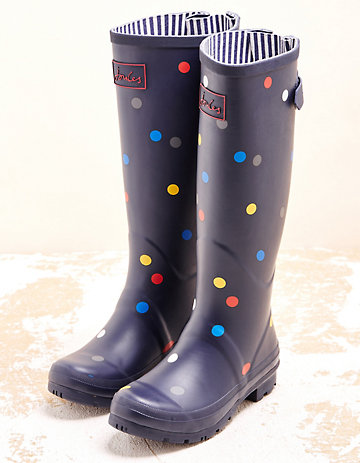 Joules Stiefel Wellyprint marine