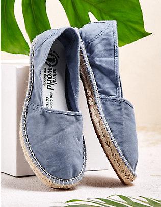 Natural World Slipper Alora jeansblau