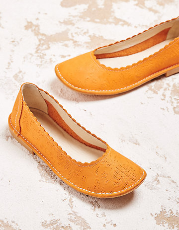 Deerberg Ballerinas Belice orange