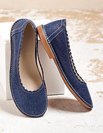 Deerberg Ballerinas Belice blau