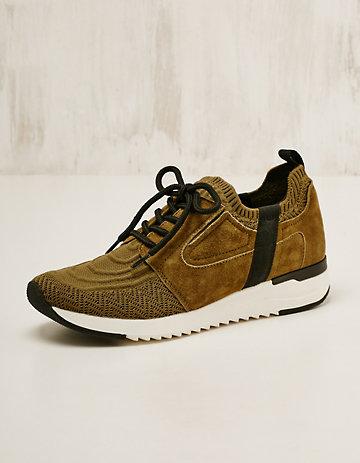 Caprice Textil-Leder-Sneaker Elfrun oliv