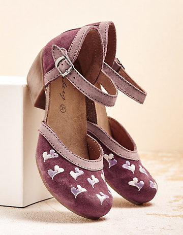 Deerberg Pumps Mulana bordeaux-rosa