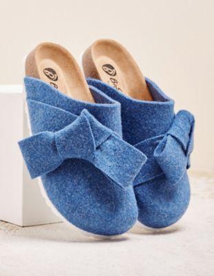 Deerberg Hausschuhe Miria jeansblau
