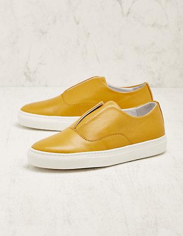 Deerberg Leder-Sneaker Bronia senf