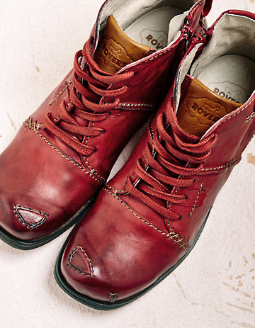 Rovers Stiefeletten Gillys rot
