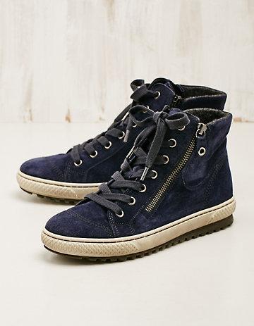 Velours-Leder-Sneaker-High Gitara marine