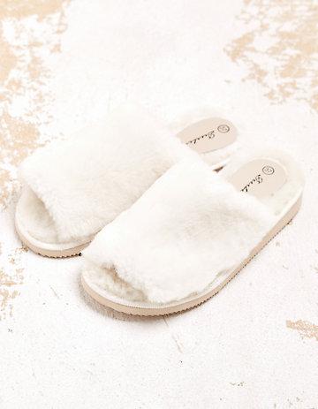 Deerberg Hausschuhe Feducia weiß