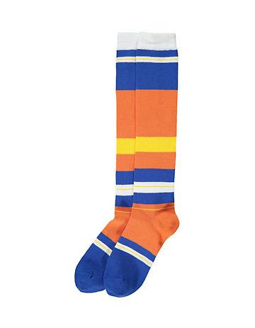 LIBERTAD Kniestrümpfe Salwija orange-blau