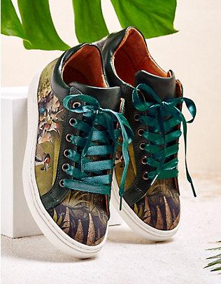 Linkkens Sneaker Lynna dunkelgrün