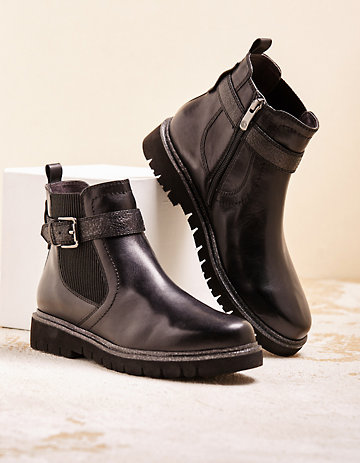 Be Natural Stiefeletten Warenka schwarz