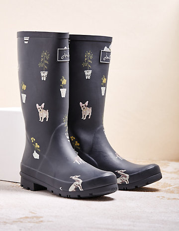Joules Stiefel Roll Up Welly anthrazit