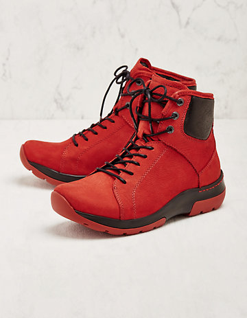 Wolky Stiefeletten Ambient rot