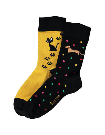Sympatico 2er Pack Socken Animal Life bunt