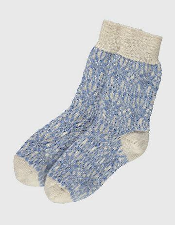 Deerberg Socken Sterne beige-hellblau